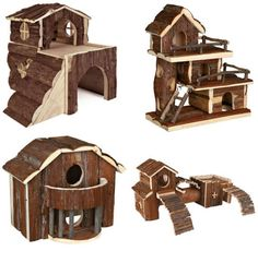 Trixie Natural Living Cage Accessories - Wooden House, Rabbits, Ferrets, Hamster #TRIXIE #Houses