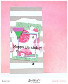 Karte Happy Birthday - Scrapbook Werkstatt Januar Kit 2015 - designed by Alexandra Boehnke (Tandi-Works)