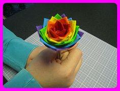 Duck Tape flower pens!