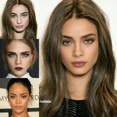 Taylor Hill, Cara Delevingne, Beauty Makeup, Hair Makeup, Hair Beauty, Light Hair, Dark Hair, Photoshop Face, Face Blender