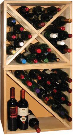 Casier bouteilles, casier vin, rangement du vin, aménagement cave, casier bois, cave à vin, meuble vin. Référence KR50 pour le stockage de 24 bouteilles (Photo : combinaison de 2x KR50)