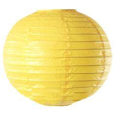 Paper Lanterns: Yellow Round Chinese Paper Lantern
