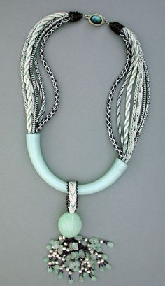 Learn Kumihimo Braiding Techniques for Jewelry.  An example of Kumihimo Braiding by Carol Goodwin's Gallery