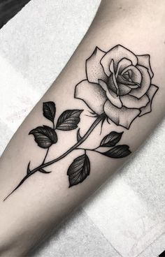 24 rose tattoo ideas worth checking out - tattoos & piercings - . - 24 rose tattoo ideas worth checking out – tattoos & piercings – # R - Single Rose Tattoos, Rose Tattoos For Women, Leg Tattoos Women, Black Rose Tattoos, Top Tattoos, Trendy Tattoos, Forearm Tattoos, Cute Tattoos, Beautiful Tattoos