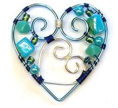 Great Collection of Wire Wrapped Heart Jewelry Tutorials