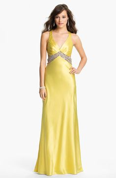Sean Collection Embellished Charmeuse Gown (Online Exclusive) available at #Nordstrom