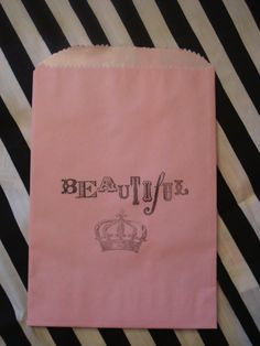 Candy Buffet Cookie Bags Beautiful Princess by KarmaExpressions, $3.25