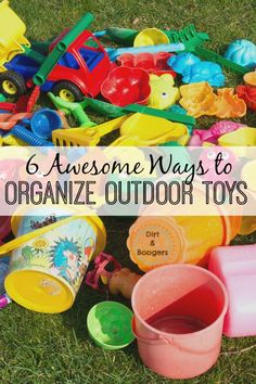 I love these great tips for organizing outdoor toys. Especially number 3!