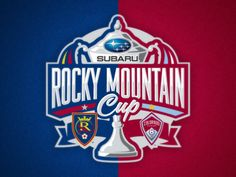 RSL and Colorado face off this weekend in Leg 1 of the Rocky Mountain Cup. Logo I created a few years ago for the event. Rocky Mountains, Real Salt Lake, Colorado Rapids, Sports Logo, Football Team, Logos, Yearly, American Football, Soccer