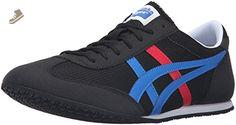Onitsuka Tiger Machu Racer Fashion Sneaker, Black/Classic Blue, 6 M US - Onitsuka tiger for women (*Amazon Partner-Link)
