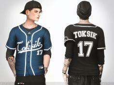 The Sims Resource: Strike Jersey by toksik • Sims 4 Downloads