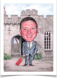 A3 Caricature - Sorry Your Leaving. www.leadinyapencil.co.uk