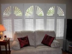 Sunburst Arches and STD. Traditional Plantation Shutters