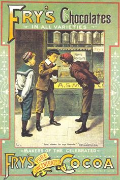 #Vintage #Ads - Fry's Chocolates, 1901