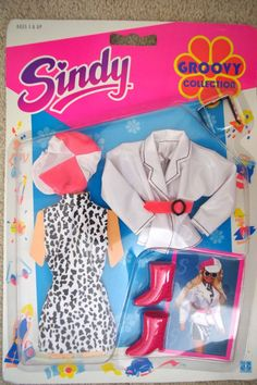 VINTAGE SINDY GROOVY COLLECTION 1991 HASBRO 8185 OUTFIT 14.95+3.5