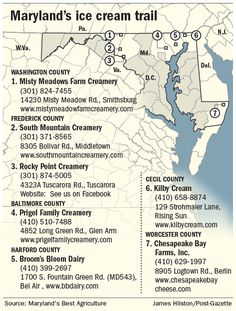 Maryland's Best Ice Cream Trail is the nation's first farm-based ice cream trail connecting 7 creameries. How many of these tasty creameries have YOU tried?