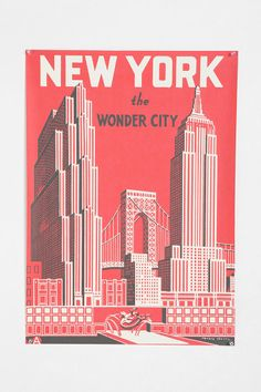 The Wonder City Poster- Goes with my red and blue color scheme pretty well