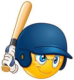 Baseball batter or hitter player emoticon Facebook Emoticons, Animated Emoticons, Funny Emoticons, All Emoji, Emoji Love, Smiley Emoji, Emoji Images, Emoji Pictures, Emoji Clipart