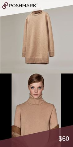 Studio dress Zara w16 camel studio dress. Turtle neck knit dress. Brand new. 95% wool 5% cashmere. Comes in 2 sizes this is the smaller of the 2 Zara Dresses Midi