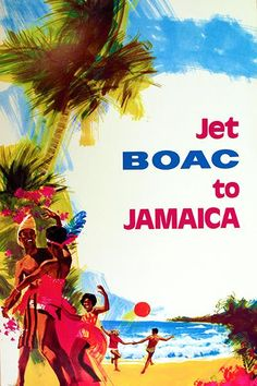 Jet BOAC To Jamaica - 1970 - Travel Poster