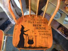 repurpose chair such a cute idea for halloween or just you know.. sitting around in all the time! LOL