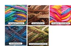 4 skeins colorful rainbow yarn with Pink tones thick. by JeAdore, $9.99