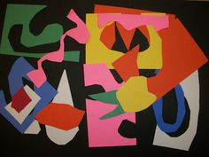 we heart art: Matisse-terpieces (Grade 1 or 2--simple, 1-day lesson, good way to use up construction paper scraps)