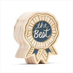 Father's Day – The Penny Paper Co. Happy Signs, Uplifting Messages, Navy Blue Background, Wooden Art, Showcase Design, Gold Paint, Wood Blocks, Cool Gifts, Screen Printing