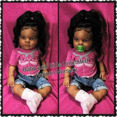 This beautiful princess is a reborn toddler baby I made from the Kitten Kit. *She does have a mommy already just showing examples of what