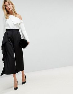 58233ecdac92 Tailored Culotte with Frill Side