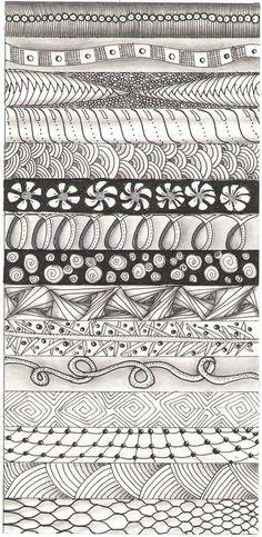 strip 2 #ZentangleDesign #sampler