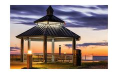 Grand Bend - Long Exposure Dusk Channel Marker | by scottproudfootphotography.com Long Exposure, Shelters, Dusk, Marker, Gazebo, Channel, Shades, Outdoor Structures, Kiosk
