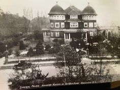 """Imperial Palace, Kanadian Knights of the Ku Klux Klan, 1925 Built in the Glen Brae Manor in Shaughnessy Heights was briefly the headquarters of the KKK in By the people were referring to the lavish mansion as the """"Mae West. Vancouver Photos, Vancouver Island, Private Hospitals, Fraser Valley, New West, Imperial Palace, Iconic Photos, History Facts, Old Pictures"""