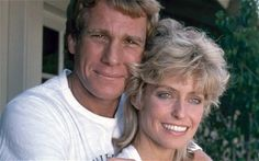 The painting of Farrah Fawcett seen hanging over Ryan O'Neal's bed in a reality television show was, for most viewers, a sign of his enduring love for the late actress. Sam Elliott Pictures, Lips Of An Angel, Andy Warhol Portraits, Ryan O'neal, Lee Majors, Farrah Fawcett, University Of Texas, Famous Couples, Lady Diana