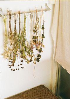 een leuke manier om droogboeketjes op te hangen. C