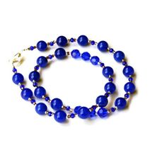 19 Sparkling Royal Blue Handmade Formal Necklace by ALFAdesigns, $49.99