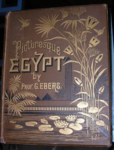 PICTURESQUE EGYPT BY PROF. G. EBERS VOLUME 1 AND 2 VINTAGE HARDCOVER SET ANTIQUE