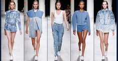 Denim has made multiple appearances on the runway during Paris Fashion Week 2013. Designer, Bui, created multiple looks deriving from different silhouettes and forms of denim. Some were heavily beaded, while others created sporty athletic pieces. The sleek, yet raw look is a new look on denim for S/S 14. Milena G