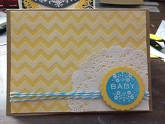 Baby shower card stampin up