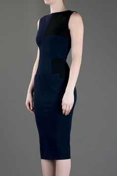Victoria Beckham Sheath Dress with Patch Pockets