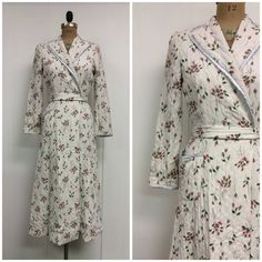 SALE 1940s Rayon Robe 40s Ribbons by CreatedAndCollected on Etsy