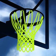 Luminous Basketball Net – The Caveman's Guide Hoop Net, Basketball Backboard, Sun Power, Home Sport, Basketball Games, Laos, Night Light, The Darkest, Sports