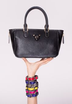 RusiDesigns black mini tote with strap available at @rtister #rusi #rusibags