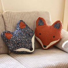 Vintage Inspired Fox Cushion from Not On The High Street. : Vintage Inspired Fox Cushion from Not On The High Street. Fox Crafts, Kids Crafts, Arts And Crafts, Sewing Pillows, Diy Pillows, Pillow Ideas, Cushion Ideas, Throw Pillows, Sewing Crafts