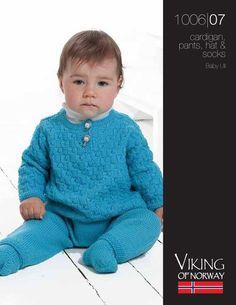 FREE...Baby Ull Cardigan, Pants, Hat & Socks – 1006-07 | Knitting Fever Yarns & Euro Yarns