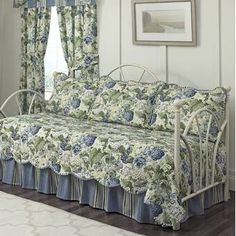 Waverly Norfolk Reversible Quilt Set & Reviews   Wayfair Waverly Bedding, Beige Color Palette, Daybed Covers, Ruffle Bedding, Box Cushion, American Decor, Decorative Trim, Quilt Sets, Comforter Sets