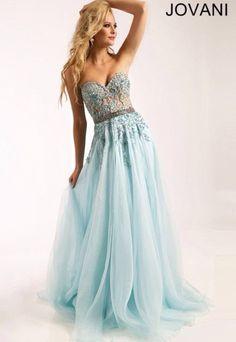 dress cinderella blue jovani prom dress