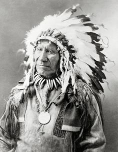 Chief American Horse,Lakota Sioux Indian in feather headdress,year 1900.Native american photography.Vintage native american art print.