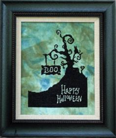 Boo is the title of this cross stitch pattern from Keslyn's.