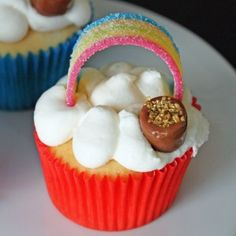 St. Patrick's Day Rainbows and Pots of Gold Cupcakes Recipe